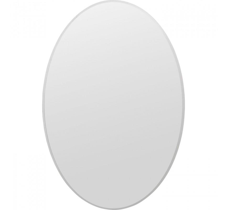Miroir Jetset ovale argenté 94x64cm Kare Design
