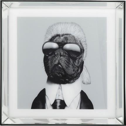 Tableau Frame miroir chien styliste 60x60cm Kare Design