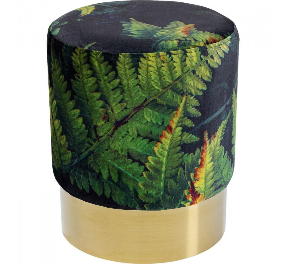 Tabouret Cherry 35cm Feuilles laiton Kare Design
