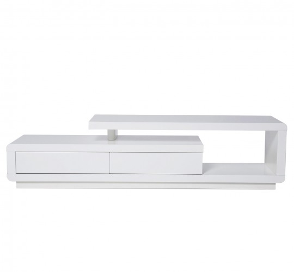 Meuble TV blanc laqué Loft 2 Tiroirs Kare Design