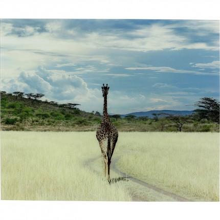 Tableau en verre Savane Girafe 100x120cm Kare Design