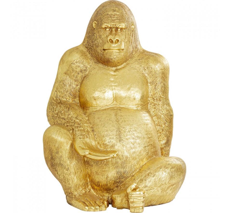 Déco Gorille XXL 249cm doré Kare Design