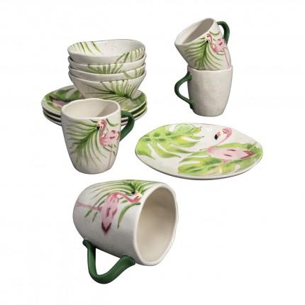 Set de petit-déjeuner Flamant rose Kare Design