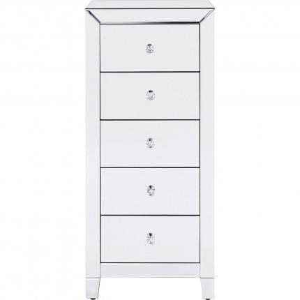 Chiffonnier Luxury argent 5 tiroirs Kare Design