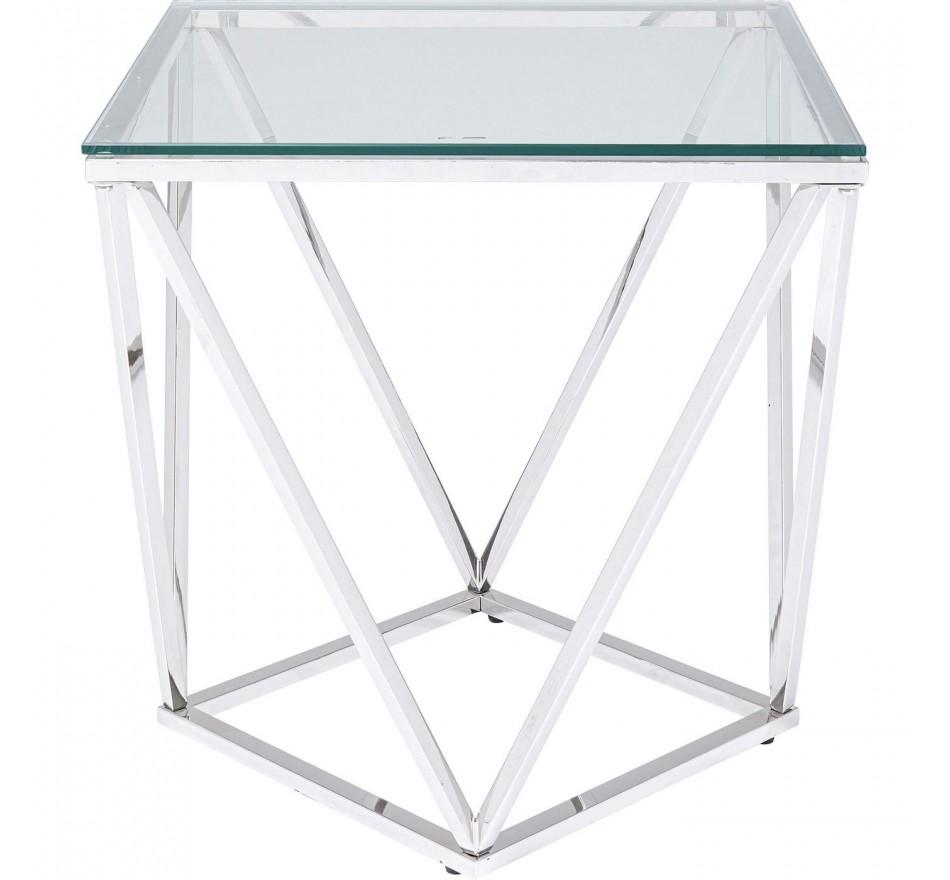 Table d'appoint Cristallo 50x50cm argentée Kare Design