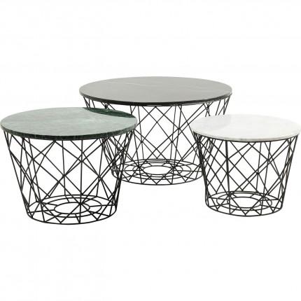 Tables basses East rond 3/set Kare Design