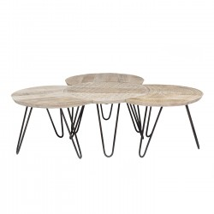Tables basses Puro set de 4 Kare Design