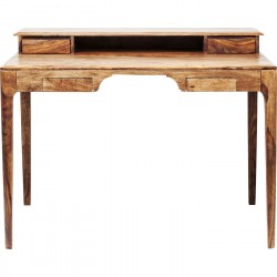 Bureau en bois Brooklyn nature 4 tiroirs 110x70cm Kare Design