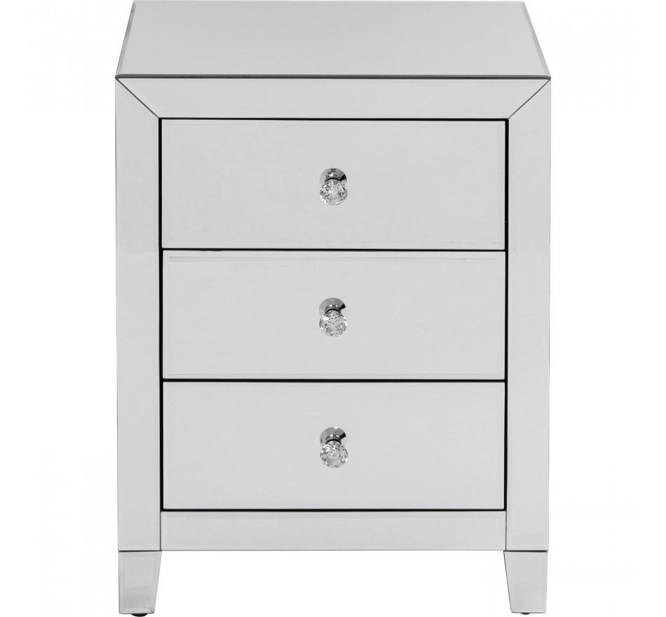 Chevet Luxury 3 tiroirs argent Kare Design