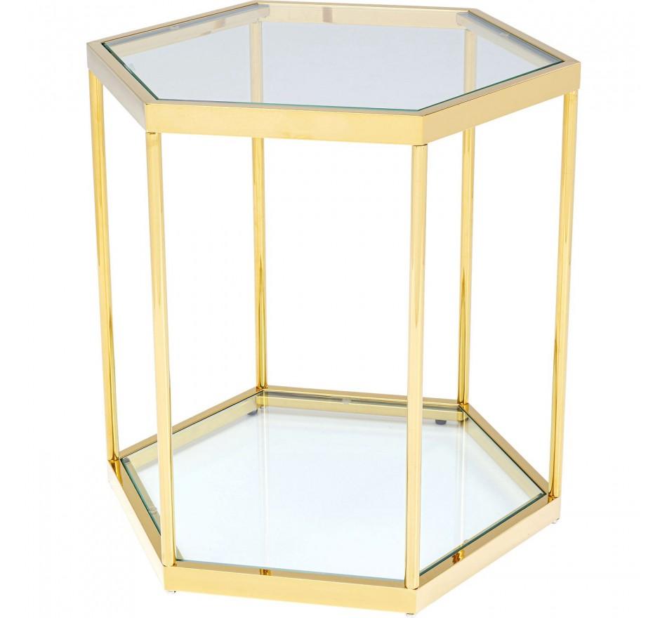 Table d'appoint Comb dorée Kare Design