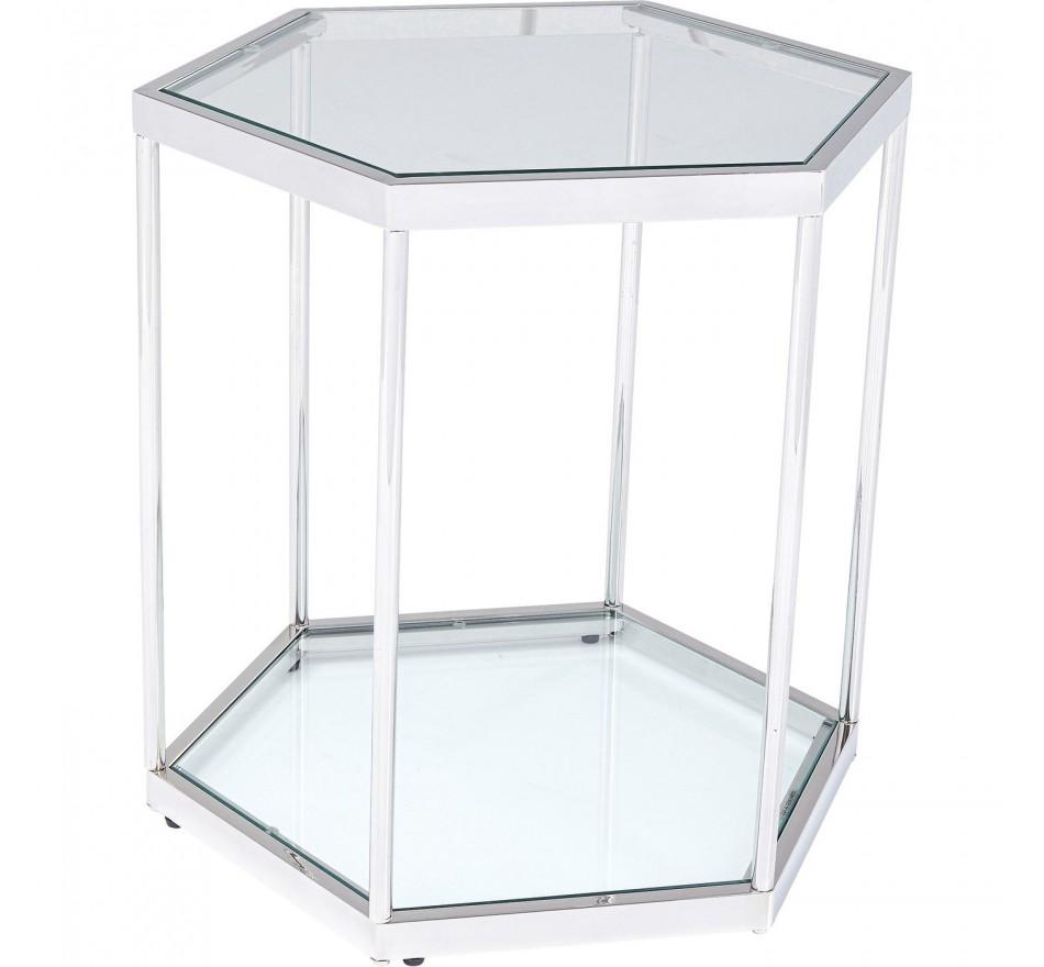 Table d'appoint Comb argentée 55cm Kare Design