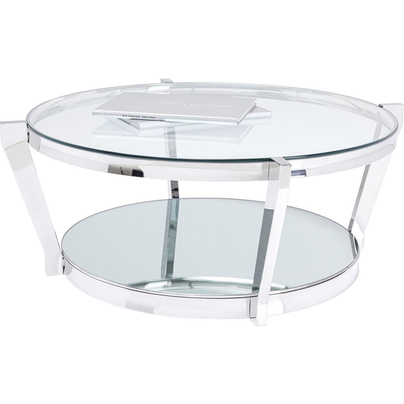 Table basse Monocolo 90cm chromée Kare Design