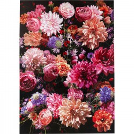 Tableau Touched bouquet de fleurs 140x200cm Kare Design