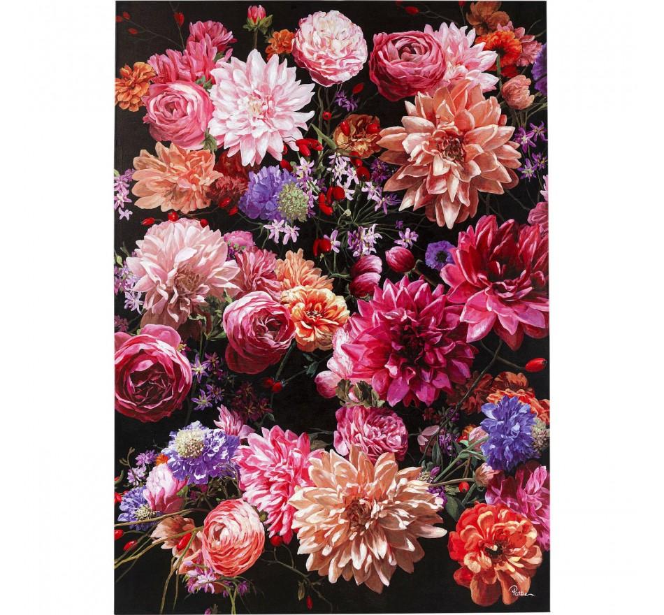 Tableau Touched bouquet de fleurs roses 140x200cm Kare Design