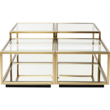 Tables basses Luigi set de 4 Kare Design