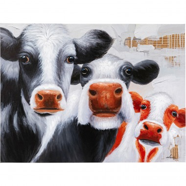 Tableau Touched vaches 120x90cm Kare Design