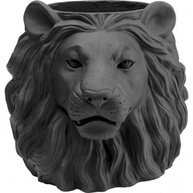 Cache-pot Lion noir Kare Design