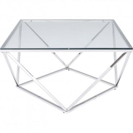 Table basse Cristallo 80x80cm argentée Kare Design