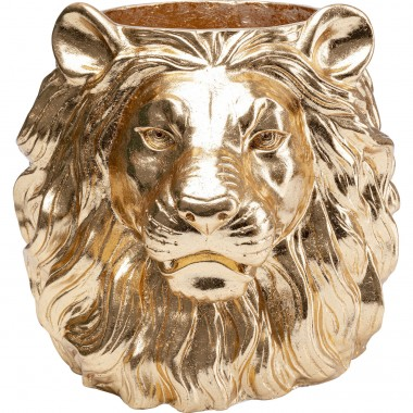 Cache-pot Lion doré Kare Design