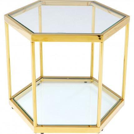 Table basse Comb 45cm dorée Kare Design