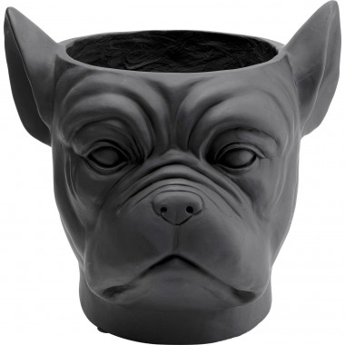 Cache-pot Bulldog noir Kare Design