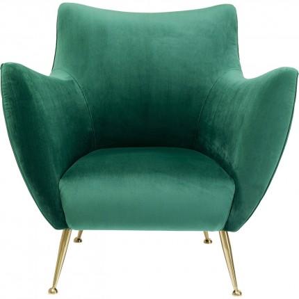 Fauteuil Goldfinger velours vert Kare Design