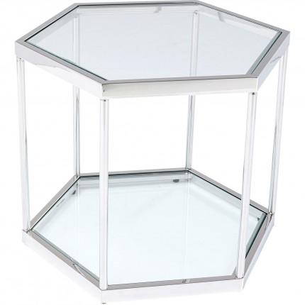 Table basse Comb argentée Kare Design