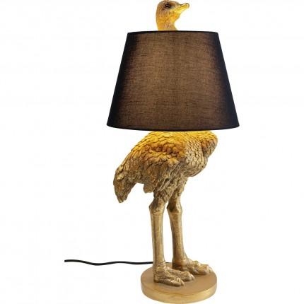 Lampadaire autruche dorée 69cm Kare Design
