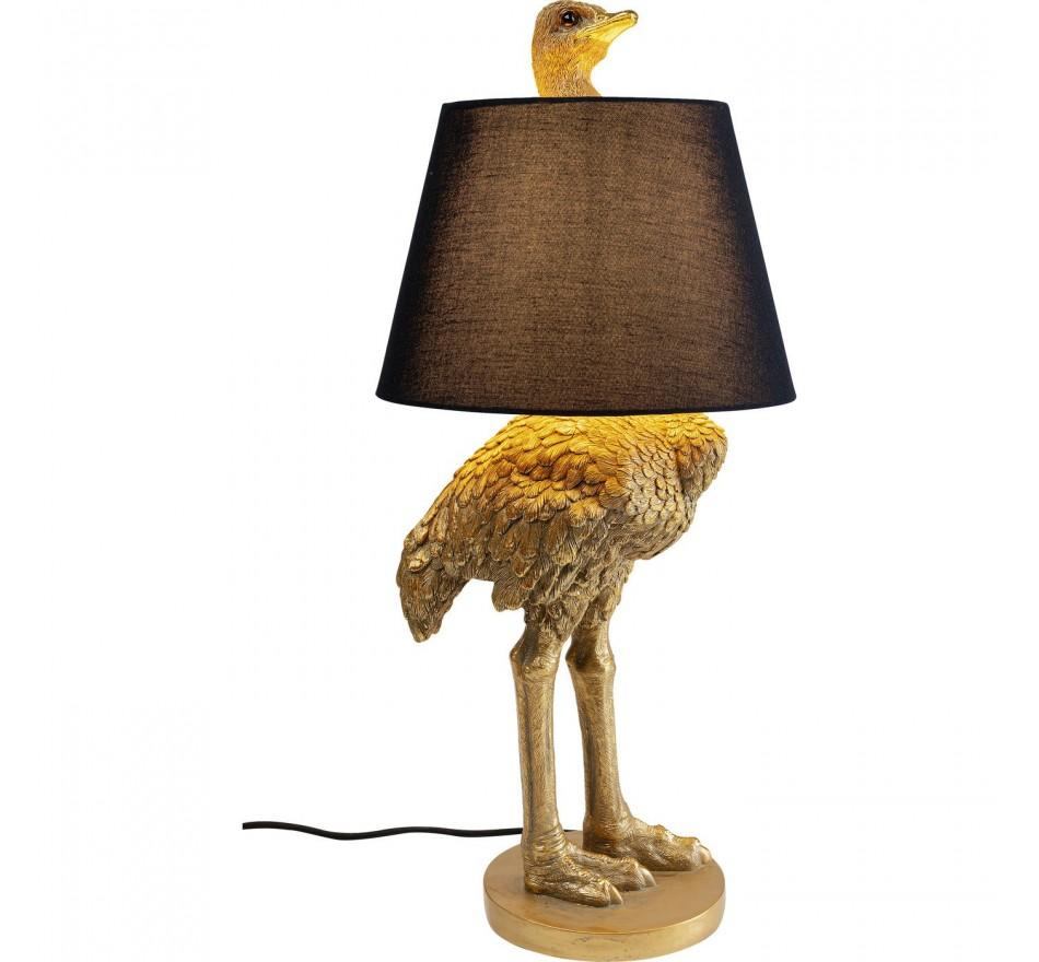 Lampadaire autruche dorée Kare Design