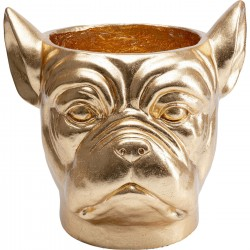 Cache-pot Bulldog doré Kare Design