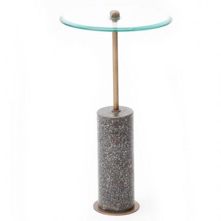 Table d'appoint Terrazzo visible noire 67cm Kare Design
