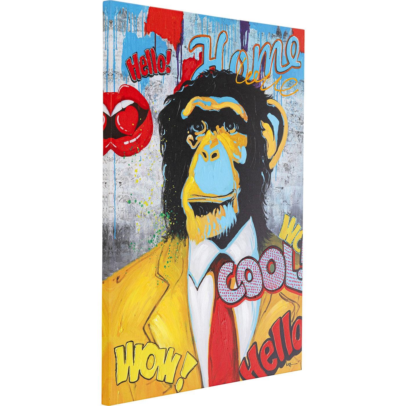 Tableau Pop Art singe 90x120cm Kare Design