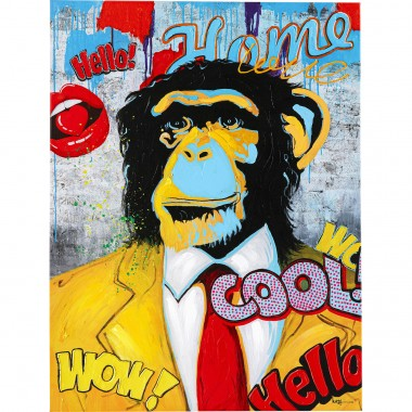 Tableau Pop Art singe 90x120cm Kare Design