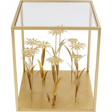 Table d'appoint Flower Meadow 40x40cm dorée Kare Design
