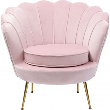 Fauteuil Water Lily rose Kare Design