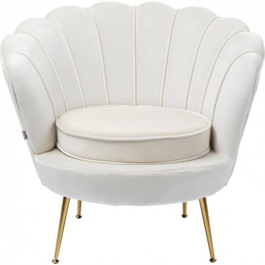 Fauteuil Water Lily beige Kare Design