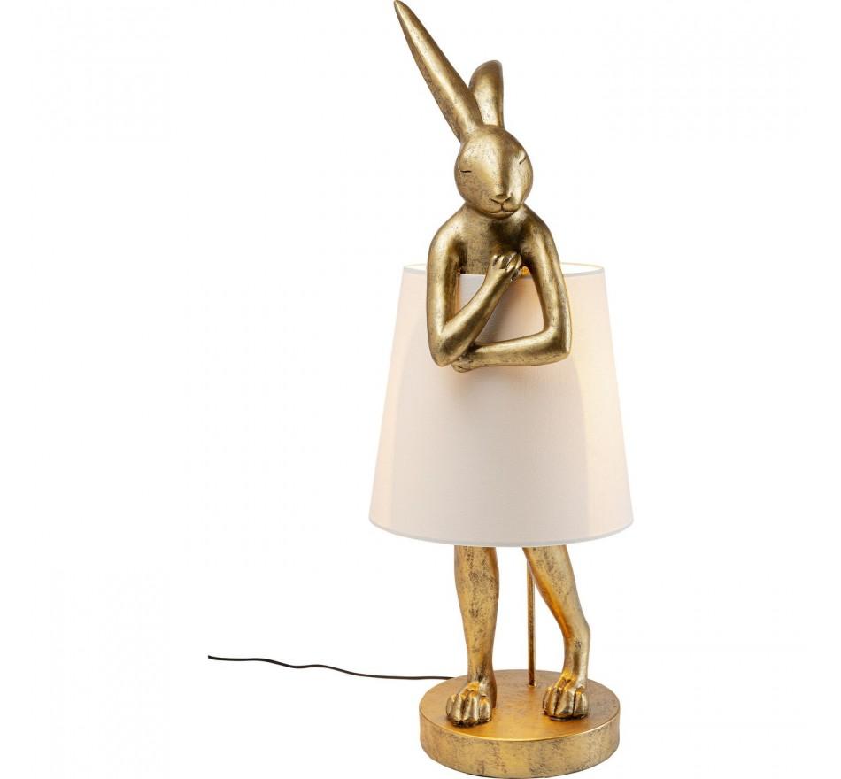 Lampadaire Animal Lapin doré Kare Design