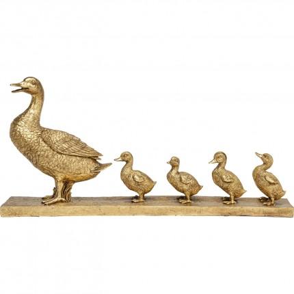 Déco famille canards dorés Kare Design