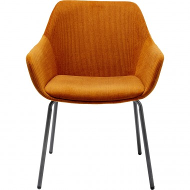 Chaise avec accoudoirs Avignon orange Kare Design