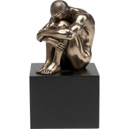 Déco Nude Man Thinking bronze Kare Design