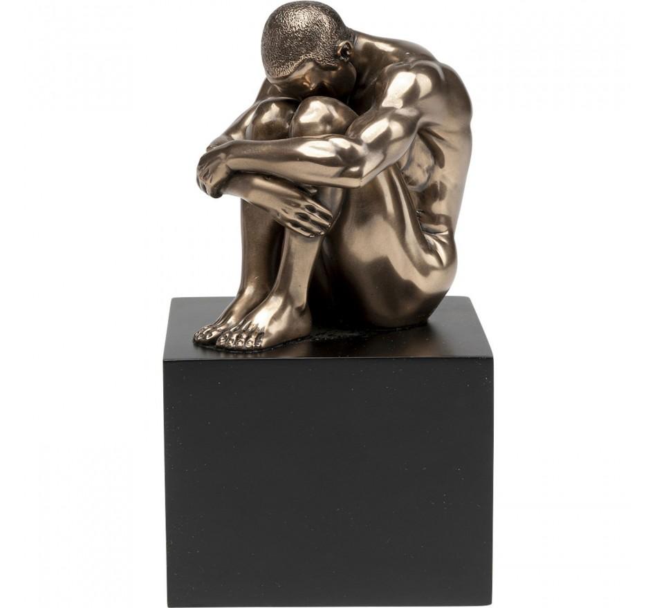 Déco Nude Man Thinking bronze 10cm Kare Design