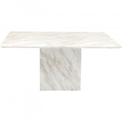 Table Artistico effet marbre blanc 160x90cm Kare Design