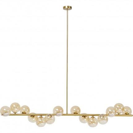 Suspension Scala Balls 150cm dorée Kare Design
