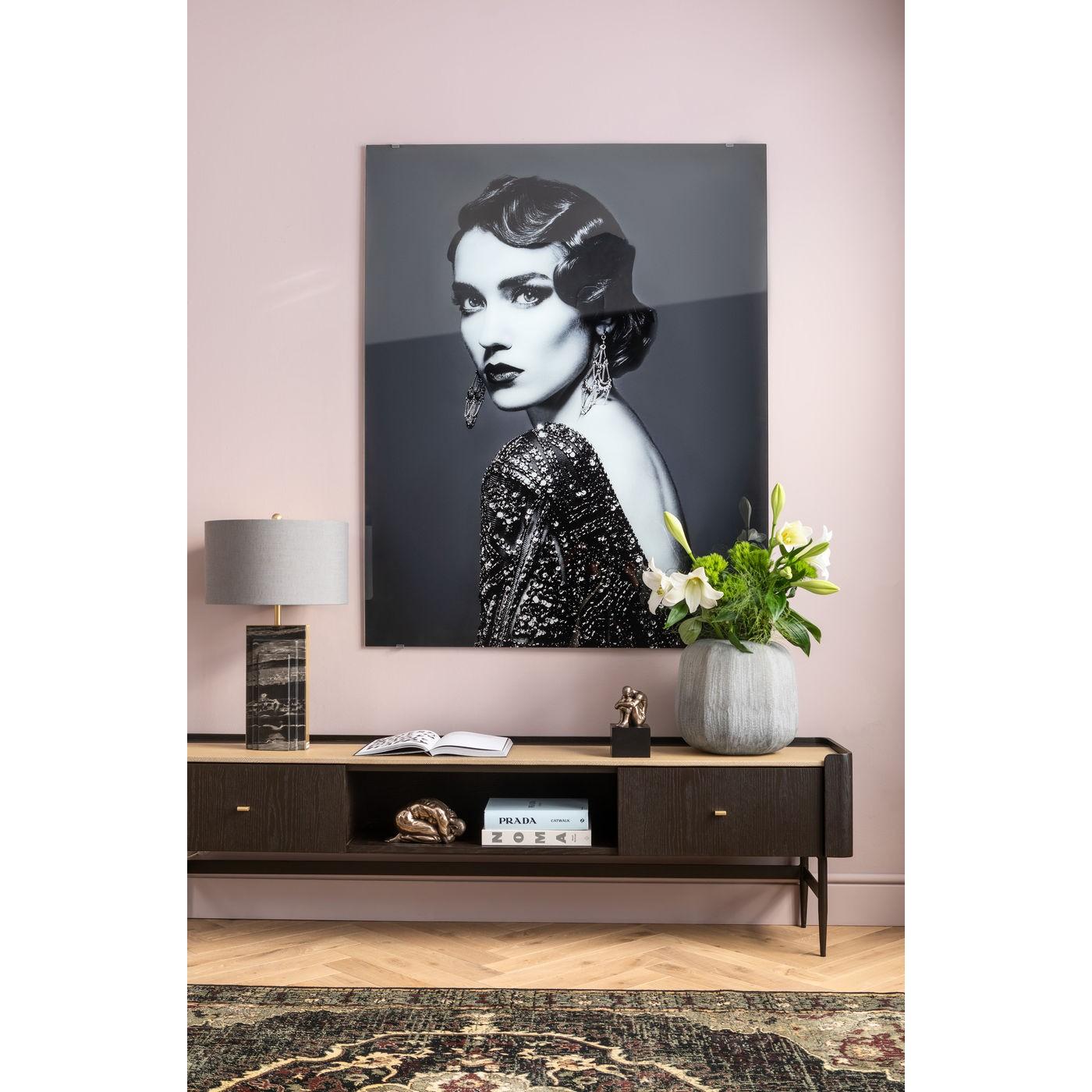 Lampe de table Charleston marbre noir 69 cm Kare Design