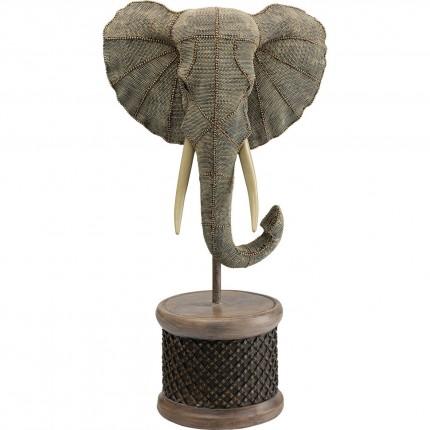 Déco tête éléphant perles 76cm Kare Design