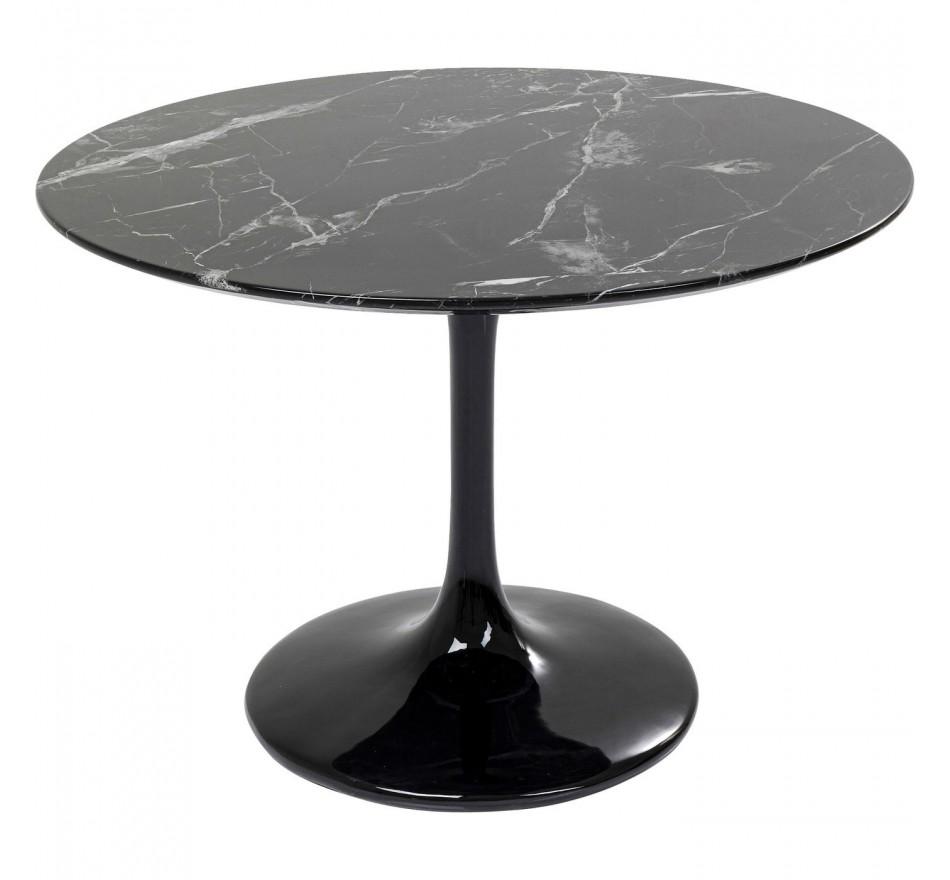 Table Solo effet marbre noir 110cm Kare Design