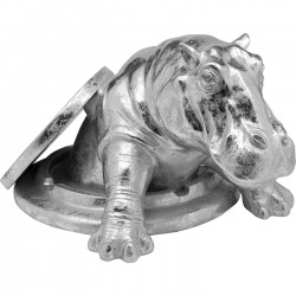Déco hippopotame argenté Kare Design