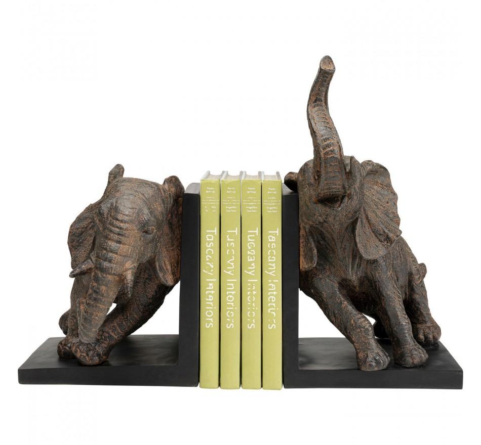 Serre-livres éléphants 25cm set de 2 Kare Design