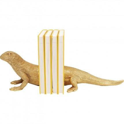 Serre-livres lézard doré set de 2 Kare Design