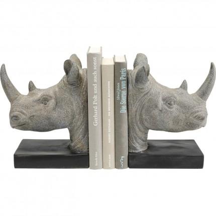 Serre-livres rhinocéros set de 2 Kare Design